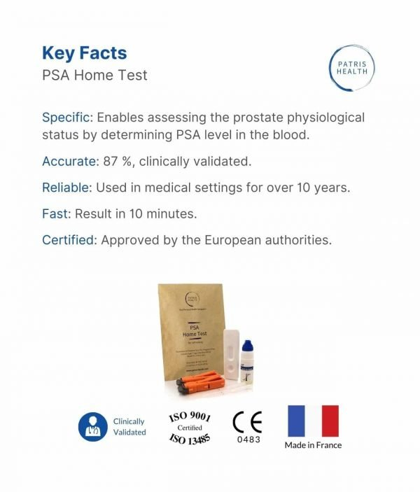 Patris Health - Key information about the PSA Home Test